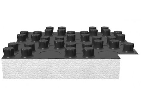 Noppenplatte mit EPS-Dämmung 30-2 mm VPE: 10 qm