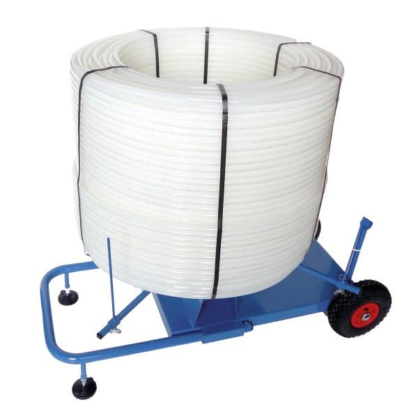 Abrollwagen für Heizrohre
